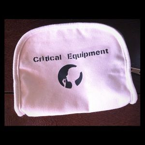 "Handbags - EUC ""Critical Equipment"" make-up bag"
